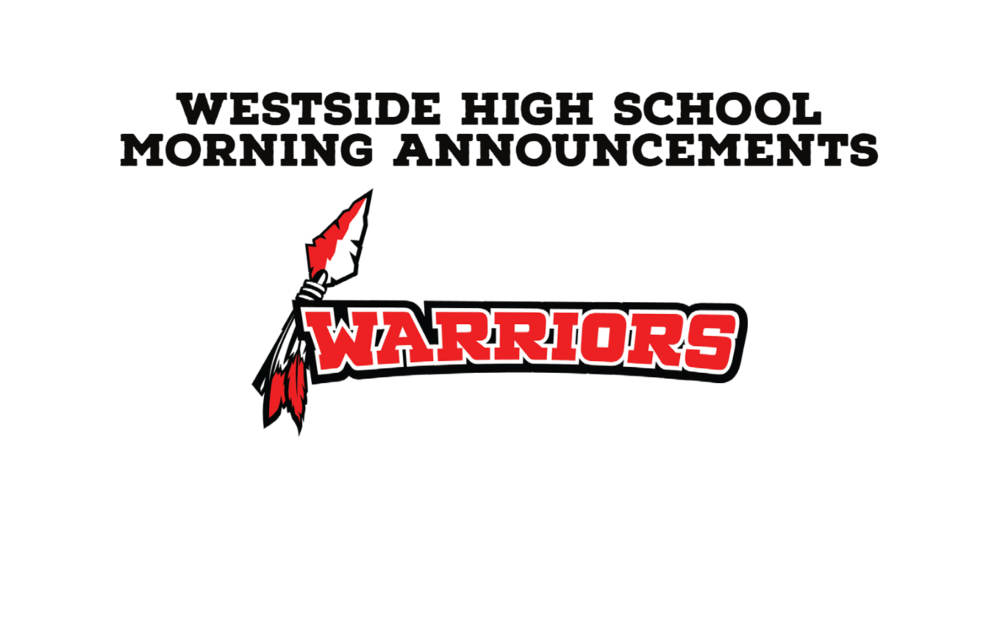 WHS Morning Announcements