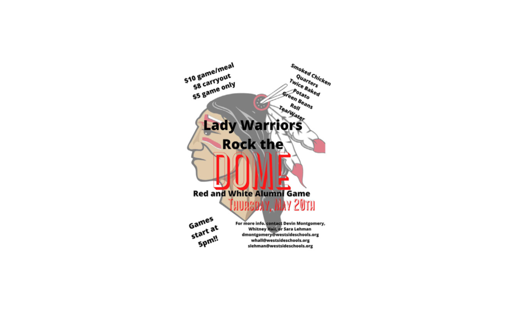 Lady Warriors Rock the DOME!  Red/White Alumni  Games Fundraiser & Food!